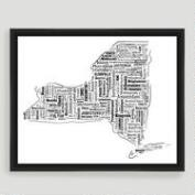 New York Typography Wall Art
