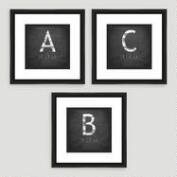 Monogram Typography Wall Art Collection