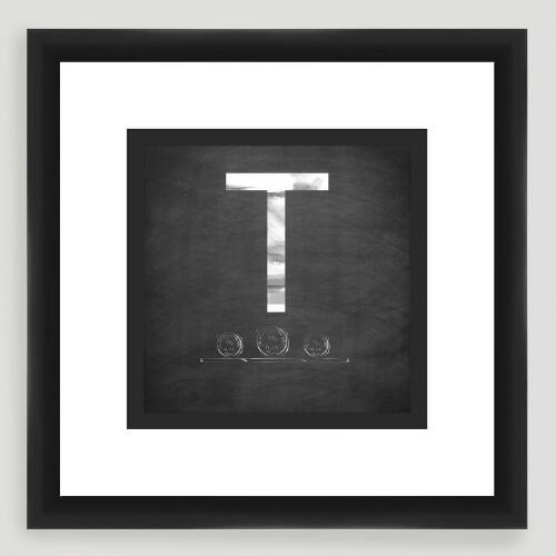 """T"" Monogram Typography Wall Art"