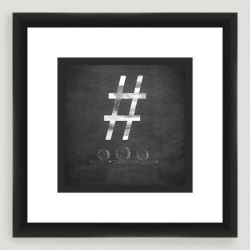 """#"" Monogram Typography Wall Art"