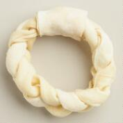 Rawhide Braided Ring Dog Treat
