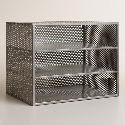 Metal Yvette 3-Shelf Desk Organizer
