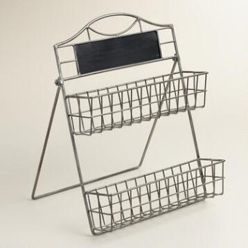 Mini Metal Aaron 2-Tier Stand with Chalkboard