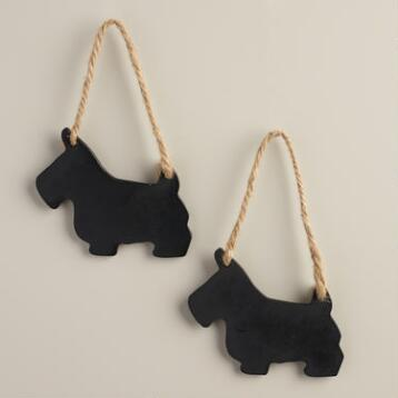 Mini Scottie Dog Chalkboards, Set of 2