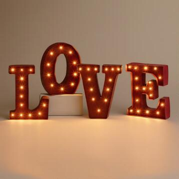 'LOVE' Battery-Operated Marquee Lights