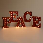 'PEACE' Battery-Operated Marquee Lights