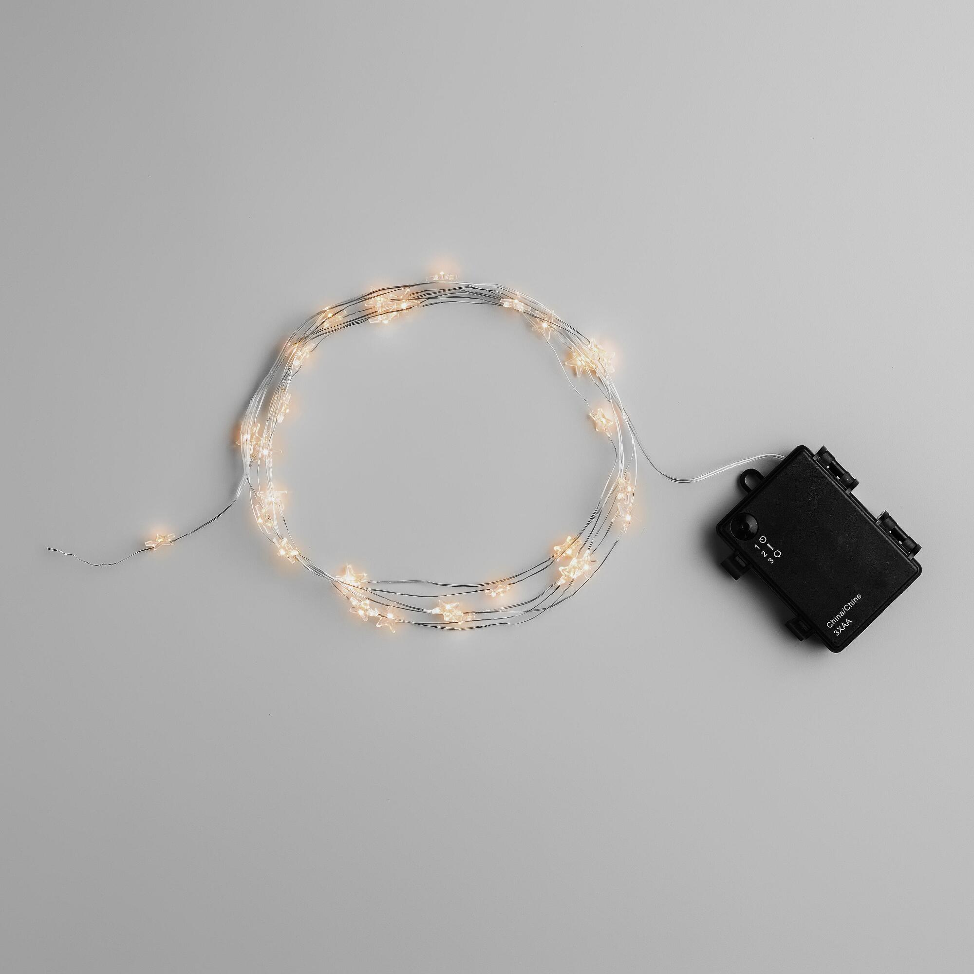 Led String Lights Micro : Micro LED 30-Bulb Star String Lights World Market