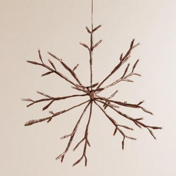 LED Snowflake Battery-Operated Hanging Light