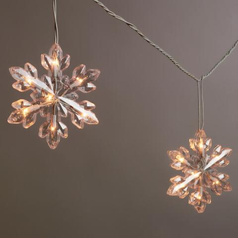 Snowflake LED String Lights World Market