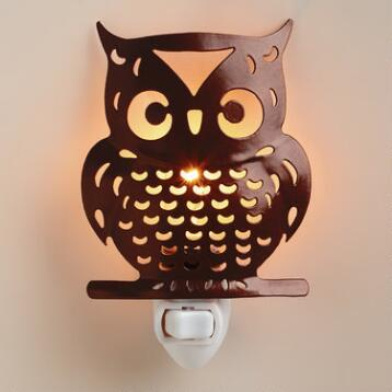 Handcrafted Metal Owl Night-Light