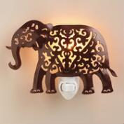 Handcrafted Metal Elephant Night-Light