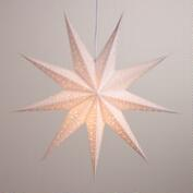 White Glitter 9-Point Star Paper Lantern