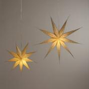 Champagne Glitter 9-Point Star Paper Lantern