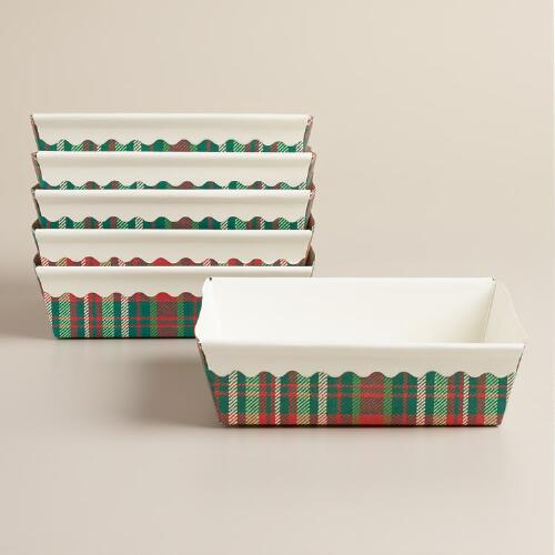 Plaid Paper Brownie Pans, Set of 6