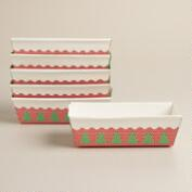 Christmas Tree Paper Loaf Pans, Set of 6