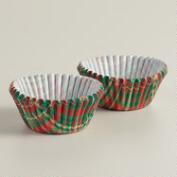 Mini Holiday Plaid Cupcake Liners, 75-Count