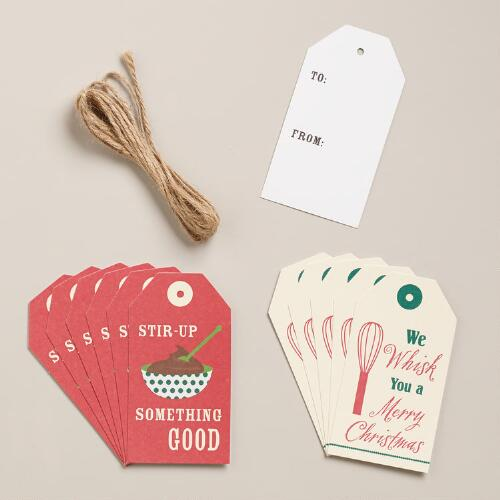 Holiday Kitchen Gift Tags, 12-Pack