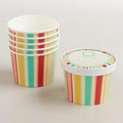 Bungalow Stripe Ice Cream Cups, 6-Pack