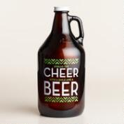Spread Cheer Glass Beer Growler