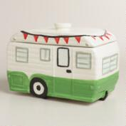 Camper Ceramic Cookie Jar