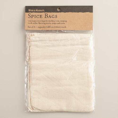 Cotton Spice Bags, Set of 2 packages