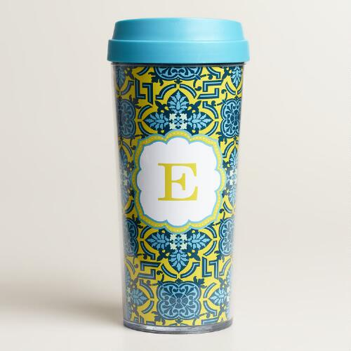 """E"" Monogram Travel French Press"