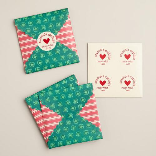 Holiday Cookie Gift Envelopes, 8-Count