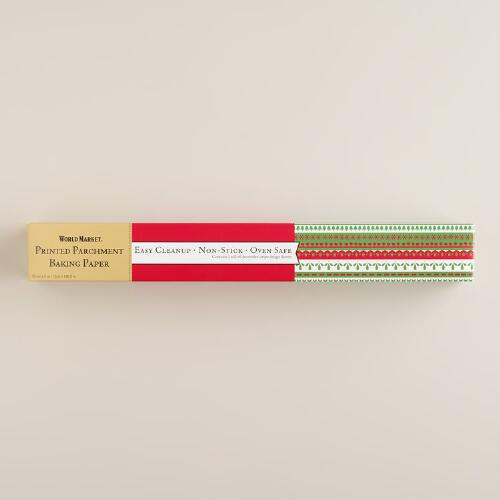 Holiday Stripe Parchment Paper Roll