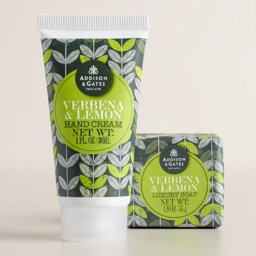 A&G Verbena and Lemon Mini Soap and Body Lotion Collection