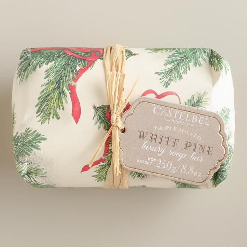 Castelbel Vintage Christmas White Pine Bar Soap