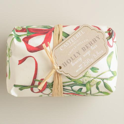 Castelbel Vintage Christmas Holly Berry Bar Soap