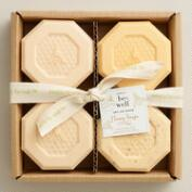Be Well Honey Bar Soaps, Set of 4