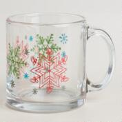 Glass Snowflake Mugs, Set of 2