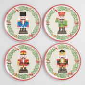 Melamine Nutcracker Plates, Set of 4