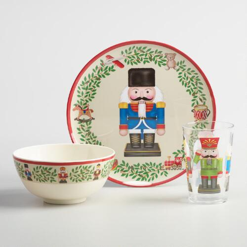 Holiday Nutcracker Melamine Dinnerware Collection