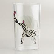 Acrylic Zebra Tumbler, Set of 4