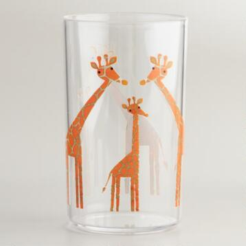 Acrylic Giraffe Tumbler, Set of 4