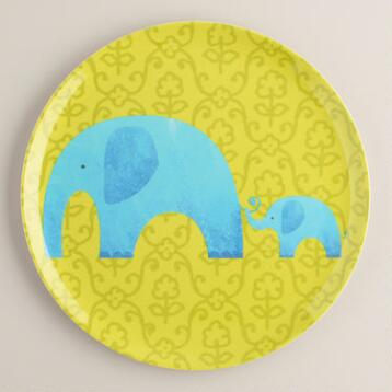 Melamine Elephant Plate, Set of 4