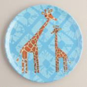 Melamine Giraffe Plate, Set of 4