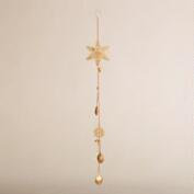 Metal Hanging Snowflake with Bells