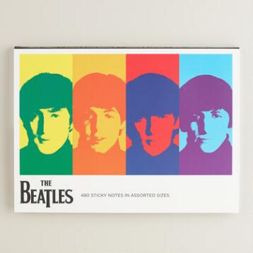 Large Beatles 50th Anniversary Sticky Notes