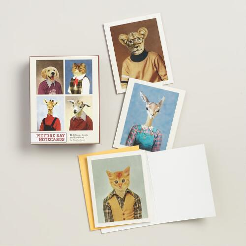 Animal Picture Day Notecards, Set of 20