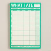 Large What I Ate Sticky Note Pad