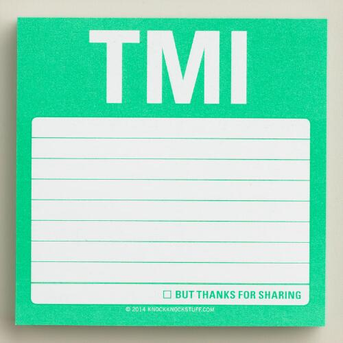 TMI Sticky Note Pad
