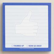 Thumbs Up Sticky Note Pad