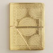 Gold Metallic Leather Journal