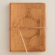Bronze Metallic Leather Journal