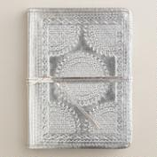 Silver Metallic Leather Journal