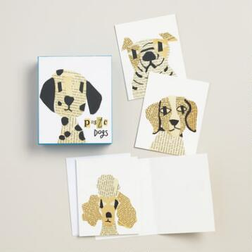 Newsprint Dog Notecards, Set of 20
