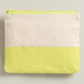 Large Yellow Dipped Stationery Case